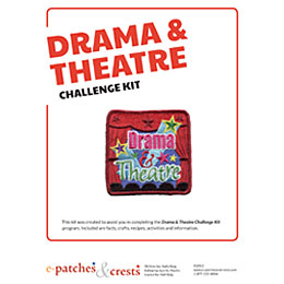 Drama, Theatre, Drama and Theatre, Actor, Actress, Play, Stage, Screen, Curtain, Acting, Girl Guides, Girl Scouts, Meeting Plan, Challenge Kit, Program, Plan