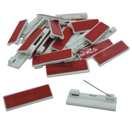 Adhesive Pin Back 12 Pack (12mm x 40mm)