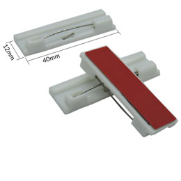 Adhesive Pin Back Single (12mm x 40mm)