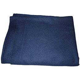 blue wool camp blanket folded