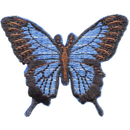 Butterfly, Nature, Wing, Patch, Embroidered Patch, Merit Badge, Badge, Emblem, Iron On, Iron-On, Crest, Lapel Pin, Insignia, Girl Scouts, Boy Scouts, Girl Guides