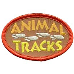 This oval patch has the word Animal over Tracks with a set of bear prints walking between from right to left.