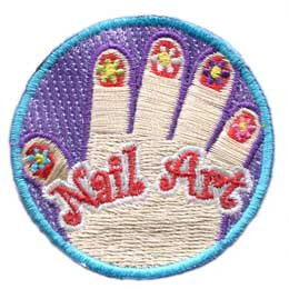 Nail, Art, Craft, Paint, Patch, Embroidered Patch, Merit Badge, Badge, Emblem, Iron On, Iron-On, Crest, Lapel Pin, Insignia, Girl Scouts, Boy Scouts, Girl Guides