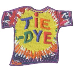 Tie-Dye, Shirt, Arts, Paint, Dye, Patch, Embroidered Patch, Merit Badge, Crest, Girl Scouts, Boy Scouts, Girl Guides