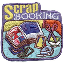 Scrap Booking, Scrapbooking, Patch, Embroidered Patch, Merit Badge, Crest, Girl Scouts, Boy Scouts, Girl Guides