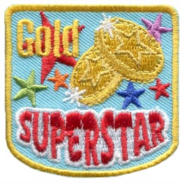 Gold Superstar (Iron On)