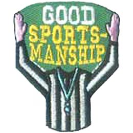 Good Sportsmanship, Referee, Medal, Sports, Girl, Boy, Patch, Merit Badge, Crest, Guides, Scouts
