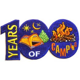 Camp, Moon, Star, Hike, Tent, Campfire, Fire, Lantern, Patch, Embroidered Patch, Merit Badge, Iron On, Iron-On, Crest, Girl Scouts, Boy Scouts, Girl