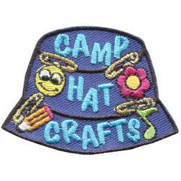 Camp, Hat, Craft, Swap, Pin, Pencil, Flower, Music, Patch, Embroidered Patch, Merit Badge, Badge, Emblem, Iron On, Iron-On, Crest, Lapel Pin, Insignia, Girl Scouts, Boy Scouts, Girl Guides