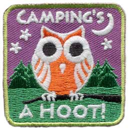 Camping's A Hoot! - Glow In The Dark (Iron On)