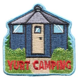 Yurt, Camping, Asia, Portable, Home, Nomad, Patch, Embroidered Patch, Merit Badge, Badge, Emblem, Iron On, Iron-On, Crest, Lapel Pin, Insignia, Girl Scouts, Boy Scouts, Girl Guides