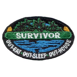 Survivor - Out-Eat, Out-Sleep, Out-House (Iron On)
