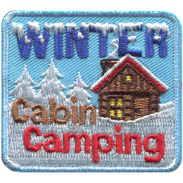 Winter Cabin Camping (Iron On)