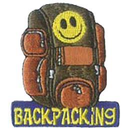 Backpack, Back, Pack, Hike, Hiking, Patch, Embroidered Patch, Merit Badge, Badge, Emblem, Iron On, Iron-On, Crest, Lapel Pin, Insignia, Girl Scouts, B