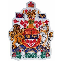 Canada, Coat of Arms, Arm, Ottawa, Patch, Embroidered Patch, Merit Badge, Iron On, Iron-On, Crest, Girl Scouts, Boy Scouts, Girl Guides