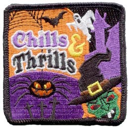 Chills, Thrills, Halloween, Meeting Plan, Free, Idea, Program Kit, Challenge Kit, Program Planning, Meeting Ideas, Girl Guides, Girl Scouts, Girl Scout Activities, Girls Program, Girl Scout Patch, Girl Scout Camp, Camp Idea
