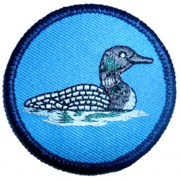 Loon, Patrol, Leader, Bird, Water, Patch, Embroidered Patch, Merit Badge, Iron On, Iron-On, Crest, Girl Scouts, Boy Scouts, Girl Guides