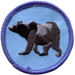 Bear, Black Bear, Grizzly, Patrol, Badge, Patch, Embroidered Patch, Merit Badge, Badge, Emblem, Iron On, Iron-On, Crest, Lapel Pin, Insignia, Girl Scouts, Boy Scouts, Girl Guides