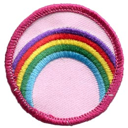 Rainbow, Colour, Sky, Water, Circle, Patch, Embroidered Patch, Merit Badge, Badge, Emblem, Iron On, Iron-On, Crest, Lapel Pin, Insignia, Girl Scouts, Boy Scouts, Girl Guides