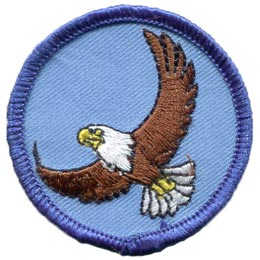 Flying, Eagle, America, Patrol, Badge, Bird, Patch, Embroidered Patch, Merit Badge, Badge, Emblem, Iron On, Iron-On, Crest, Lapel Pin, Insignia, Girl Scouts, Boy Scouts, Girl Guides