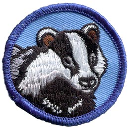Badger, Honey, Circle, Badge, Patrol, Badge, Embroidered Patch, Merit Badge, Badge, Emblem, Iron On, Iron-On, Crest, Lapel Pin, Insignia, Girl Scouts, Boy Scouts, Girl Guides