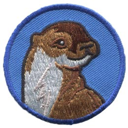 Otter, Circle, Badge, Patrol, Badge, Embroidered Patch, Merit Badge, Badge, Emblem, Iron On, Iron-On, Crest, Lapel Pin, Insignia, Girl Scouts, Boy Scouts, Girl Guides