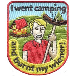 I Went Camping and Burnt My Wiener! (Iron On)