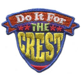 For, Crest, Shield, Stars, Banner, Slogan, Patch, Embroidered Patch, Merit Badge, Badge, Emblem, Iron On, Iron-On, Crest, Lapel Pin, Insignia, Girl Scouts, Boy Scouts, Girl Guides