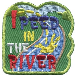 Peed, River, Ocean, Pool, Water, Lake, Patch, Embroidered Patch, Merit Badge, Badge, Emblem, Iron On, Iron-On, Crest, Lapel Pin, Insignia, Girl Scouts, Boy Scouts, Girl Guides