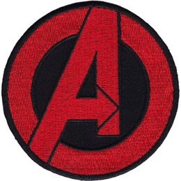 This round patch forms the Advengers logo: a 'A' inside a circle.