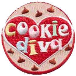 Cookie Diva, Cookie, Award, Patch, Embroidered Patch, Merit Badge, Crest, Girl Scouts, Boy Scouts, Girl Guides