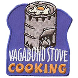 Vagabond, Tin, Can, Coffee, Buddy Burner, Burn, Flame, Cook, Cooking, Patch, Embroidered Patch, Merit Badge, Crest, Girl Scouts, Boy Scouts, Girl Guid