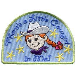 Little, Cowgirl, Cowboy, Sheriff, Star, Hat, Cowboy Hat, Spark, Patch, Embroidered Patch, Merit Badge, Badge, Emblem, Iron On, Iron-On, Crest, Lapel Pin, Insignia, Girl Scouts, Boy Scouts, Gi