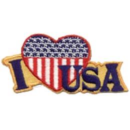 I Love USA Patch