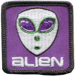 Alien - Glow in the Dark (Iron On)