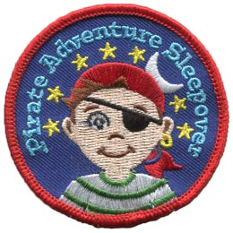 Pirate, Adventure, Boy, Star, Moon, Patch, Treasure, Map, Ship,Patch, Embroidered Patch, Merit Badge, Badge, Emblem, Iron On, Iron-On, Crest, Lapel Pin, Insignia, Girl Scouts, Boy Scouts, Girl Guides