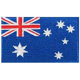 Australia, Sydney, Melbourne, Adelaide, Perth, Flag, Patch, Embroidered Patch, Merit Badge, Iron On, Iron-On, Crest, Girl Scouts