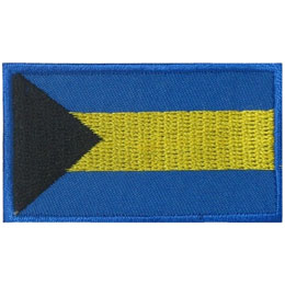Bahamas, Nassau, Flag, Country, Patch, Embroidered Patch, Merit Badge, Iron On, Iron-On, Crest, Girl Scouts