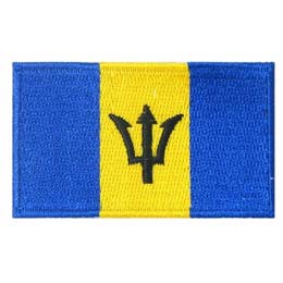 Barbados, Bridgetown, Flag, Patch, Embroidered Patch, Merit Badge, Badge, Emblem, Iron On, Iron-On, Crest, Lapel Pin, Insignia, Girl Scouts, Boy Scouts, Girl Guides