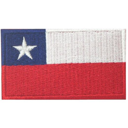 Chile, Santiago, Flag, Country, Patch, Embroidered Patch, Merit Badge, Iron On, Iron-On, Crest, Girl Scouts