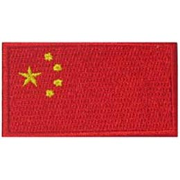 China, Beijing, Hong Kong, Shanghai, Flag, Patch, Embroidered Patch, Merit Badge, Iron On, Iron-On, Crest, Girl Scouts