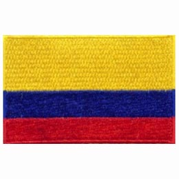 A yellow, blue, and red horizontal striped flag.
