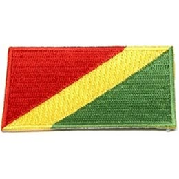 Congo, Brazzaville, Flag, Country, Patch, Embroidered Patch, Merit Badge, Iron On, Iron-On, Crest, Girl Scouts