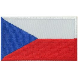 Czech Republic, Prague, Flag, Country, Patch, Embroidered Patch, Merit Badge, Iron On, Iron-On, Crest, Girl Scouts
