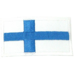 Finland, Helsinki, Flag, Country, Patch, Embroidered Patch, Merit Badge, Iron On, Iron-On, Crest, Girl Scouts