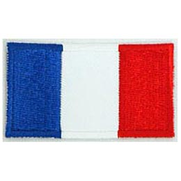 France, Paris, French, Eiffel Tower, Louvre, Flag, Patch, Embroidered Patch, Merit Badge, Iron On, Iron-On, Crest, Girl Scouts
