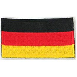 Germany, Flag, Patch, Embroidered Patch, Merit Badge, Iron On, Iron-On, Crest, Girl Scouts