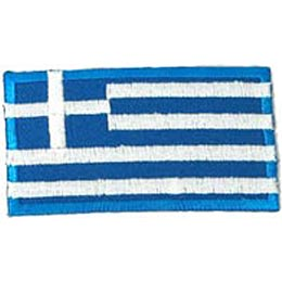 Greece, Athens, Olympics, Flag, Patch, Embroidered Patch, Merit Badge, Iron On, Iron-On, Crest, Girl Scouts