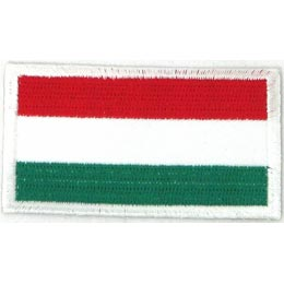 Hungary, Budapest, Flag, Country, Patch, Embroidered Patch, Merit Badge, Iron On, Iron-On, Crest, Girl Scouts