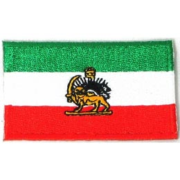 Iran, Tehran, Flag, Country, Patch, Embroidered Patch, Merit Badge, Iron On, Iron-On, Crest, Girl Scouts